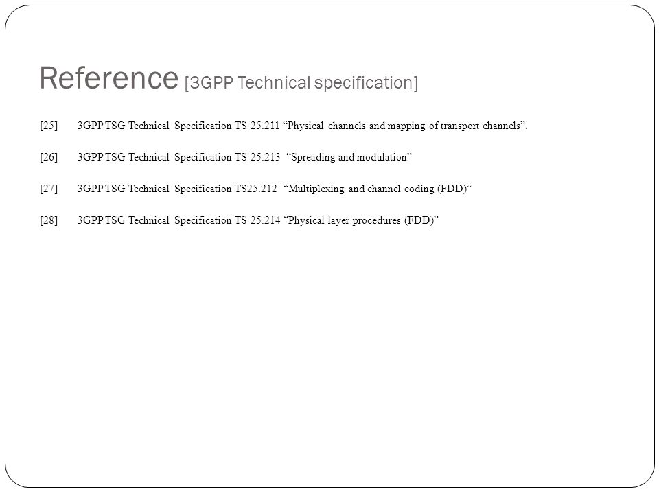 Reference [3GPP Technical specification]
